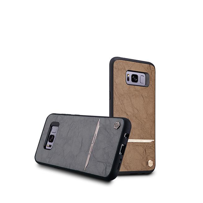 بک کاور نیلکین Samsung Galaxy S8 Plus Nilkin Mercier Leather Cover