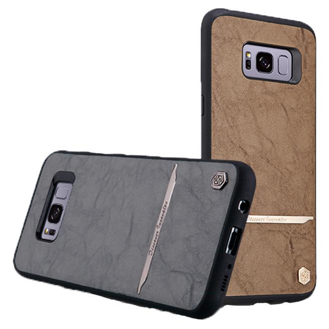 بک کاور نیلکین Samsung Galaxy S8 Nilkin Mercier Leather Cover