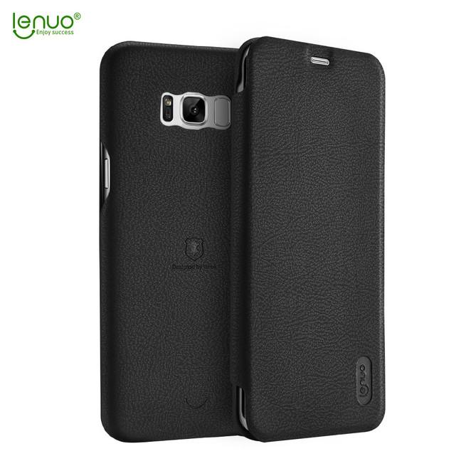 کیف چرمی Lenuo Flip Cover Sumsung Galaxy S8