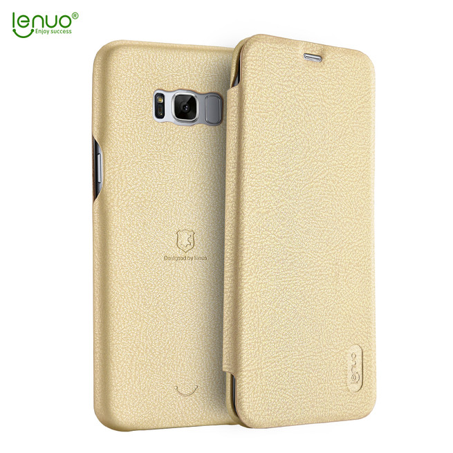 کیف چرمی Lenuo Flip Cover Sumsung Galaxy S8 Plus