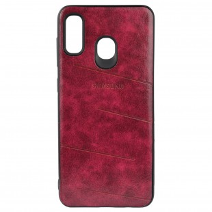 کاور مدل Leather مناسب برای گوشی موبایل سامسونگ A30
