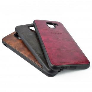 کاور مدل Leather  مناسب برای گوشی موبایل سامسونگ J6 2018