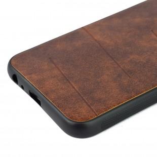 کاور مدل Leather  مناسب برای گوشی موبایل سامسونگ J6 Plus 2018