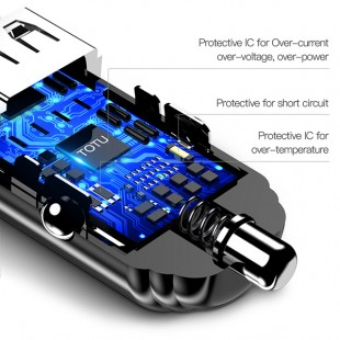 شارژر فندکی توتو مدل Totu GTZCC-02 به همراه کابل MicroUSB