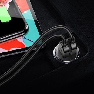 شارژر فندکی توتو مدل Totu GTZCC-03 به همراه کابل USB-C