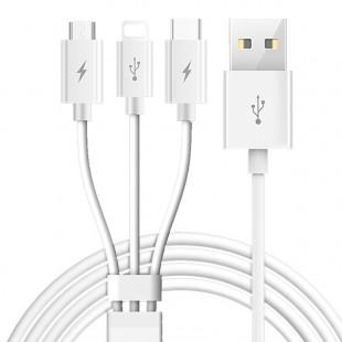 کابل تبدیل USB به لایتنینگ،MicroUSB،USB-C توتو مدل B3BB-010 طول 1.2متر