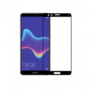 محافظ صفحه نمایش تمام چسب شیشه ای مدل 3D مناسب برای گوشی هوآوی Y9 2018