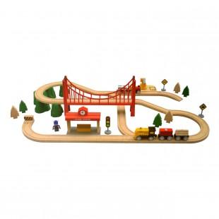 ترن اسباب بازی شیائومی مدل Mitu Track Building Block Electric Train