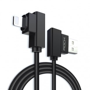 کابل لایتنینگ Rock Dual-End L-Shaped Lightning Data Cable RCB0519