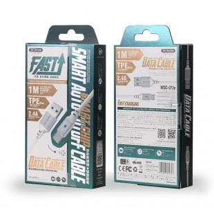 کابل تبدیل USB به Type-c دبلیو کی مدل WDC-073a طول 1 متر