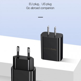 شارژر دیواری چند پورت Totu CACA-014 EU-Charger + Micro Cable