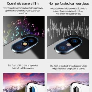 محافظ لنز دوربین توتو مدل ABiX/iXs007 مناسب برای گوشی موبایل آیفون X/XS