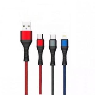 کابل تبدیل USB به لایتنینگ الدینیو مدل LS402 طول 2 متر
