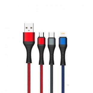 کابل تبدیل USB به MicroUSB الدینیو مدل LS401 طول 1 متر