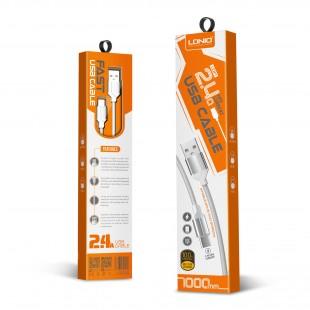 کابل تبدیل USB به MicroUSB الدینیو مدل LS391 طول 1 متر