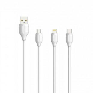 کابل تبدیل USB به لایتنینگ الدینیو مدل LS371 طول 1 متر