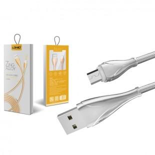 کابل تبدیل USB به MicroUSB الدینیو مدل LS28 طول 1 متر