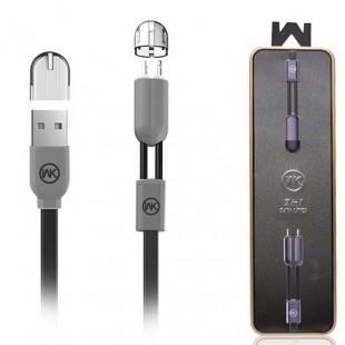 کابل تبدیل USB به Ligthning/MicroUSB دبلیو کی مدل WDC-001 طول 1 متر