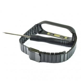 بند استیل مدل CBXM435 مناسب برای مچ بند هوشمند شیائومی Mi Band 3/4