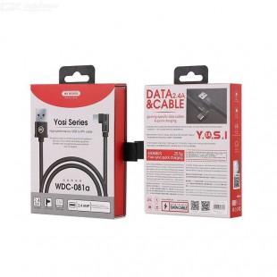 کابل تبدیل USB به MicroUSB دبلیو کی مدل WDC-073m طول 1 متر