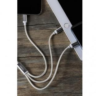 کابل تبدیل USB به MicroUSB / USB-C / لایتنینگ دبلیو کی مدل WDC-091 طول 1 متر