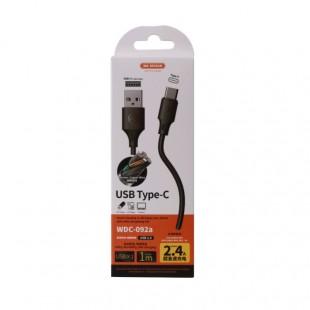 کابل تبدیل USB به USB-C دبلیو کی مدل WDC-092a طول 1 متر