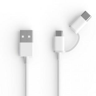 کابل تبدیل USB به MicroUSB/USB-C شیائومی مدل AL501