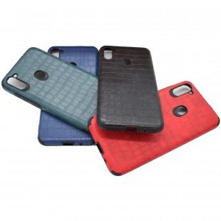 کاور مدل Leather AntiShock مناسب برای گوشی موبایل سامسونگ Galaxy A11