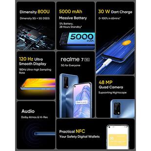 گوشی موبایل ریلمی مدل RMX2111 7 5G دو سیم کارت ظرفیت 128 گیگابایت و رم 6 گیگابایت