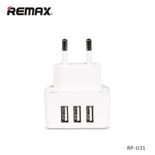 Original-Remax-Mobile-Charger-3-USB-Output-Charger-EU-UK-Plug-for-iPad-iPhone-Samsung-Huawei