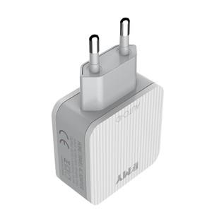 شارژر دیواری چند پورت Emy My-A303 + Type-C Cable