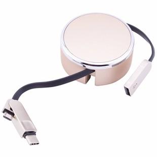 کابل تبدیل USB به MicroUSB/USB-C الدینیو مدل LC90C طول 1 متر