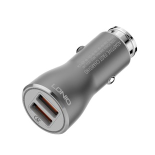 شارژر فندکی LDNIO C407 + Type-C Cable