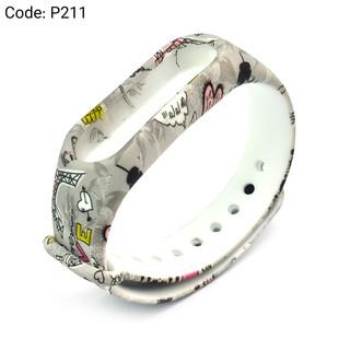 بند طرح دار دستبند سلامتی شیائومی کد P211