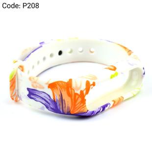 بند طرح دار دستبند سلامتی شیائومی کد P208