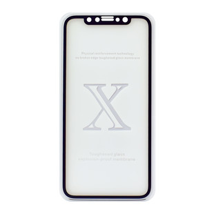 محافظ صفحه شیشه ای 3 بعدی Apple iPhone 10 Full Glue 3D Glass 2in1