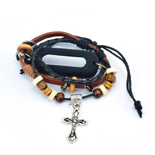 بند چرمی Tamister دستبند Mi Band 2