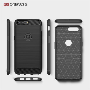 100pcs-Lot-For-Oneplus-5-Case-Luxury-Carbon-Fiber-Texture-Brushed-Rugged-Armor-Cases-For-One