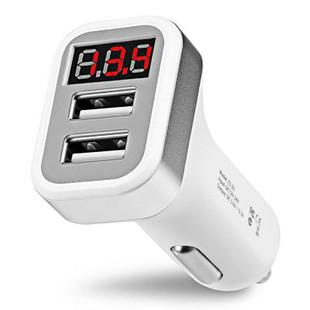 شارژر فندکی هوکو Hoco Car Charger Z3 2 Port USB digital display