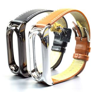 بند چرمی دستبند سلامتی Xiaomi Mi Jaos Mi Band 2 Strap کد PU Plus