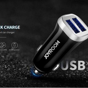 شارژر فندکی Joyroom C-M216 3.1A 2USB Car Charger + Micro Cable