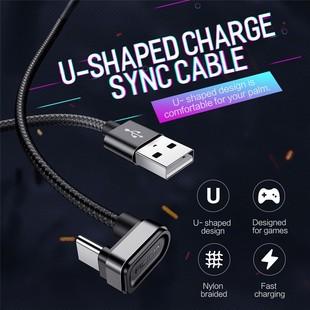 کابل تایپ سی Rock U-Shaped Metal Type-C Charge-Sync Cable RCB0584