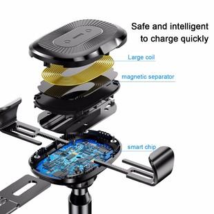 نگهدارنده و شارژر وایرلس موبایل Baseus مدل Heukji Gravity car