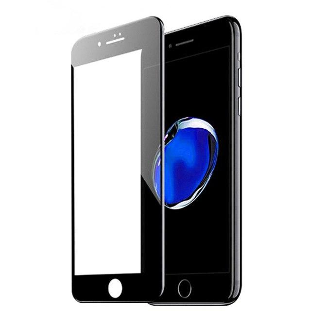 محافظ فول چسب صفحه نمایشگر آیفون 6 پلاس و 6s پلاس مدل Tempered Full Cover Glass