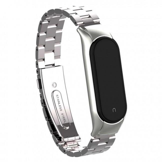 بند فلزی Bead 3 مناسب برای مچ بند هوشمند شیائومی مدل Mi Band 5 / 6