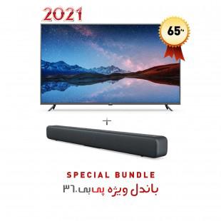 """تلویزیون هوشمند شیائومی """"Mi LED TV 4S 65 گلوبال مدل L65M5-5ASP  به همراه ساندبار شیائومی مدل Mi Soundbar"""