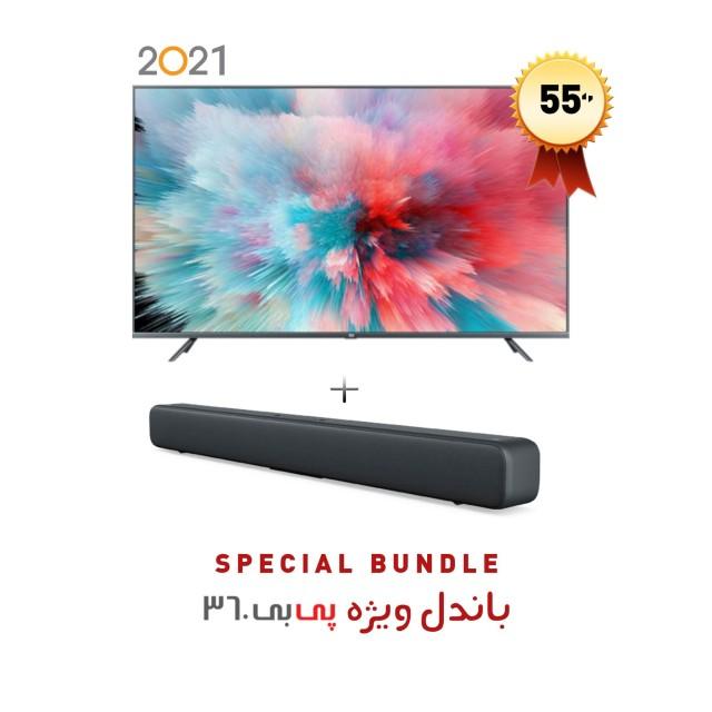 """تلویزیون هوشمند شیائومی """"Mi LED TV 4S 55 گلوبال مدل L55M5-5ASP  به همراه ساندبار شیائومی مدل Mi Soundbar"""