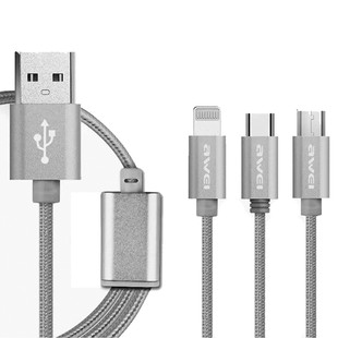 کابل تبدیل USB به MicroUSB و type C و لایتنینگ اوی مدل CL-970
