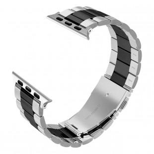 بند فلزی اپل واچ مدل Stainless Steel Double Color