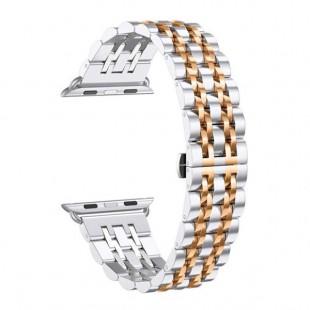 بند فلزی مدل 7BEAD Double Color مناسب Apple Watch سری 1 تا 5